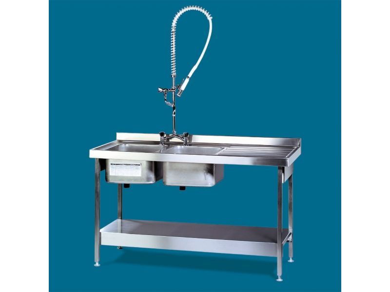 1800mm Double Bowl / Single Drainer