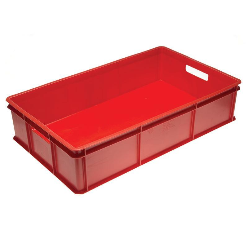 50-litre Bakery Tray with Solid Base and Solid Sides with Hand Holds - 765mm x 455mm Range