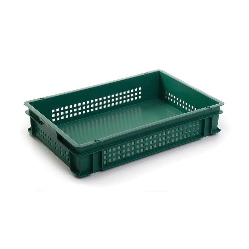 23.7-litre Stacking Container with Solid Base and Mesh Sides - 600mm x 400mm range