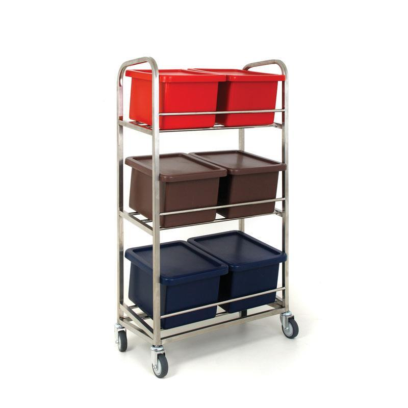 Mobile Storage Container Rack (Six Containers)
